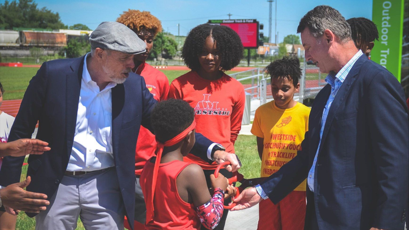 Humana Outdoor Track & Field Opens with Ribbon Cutting